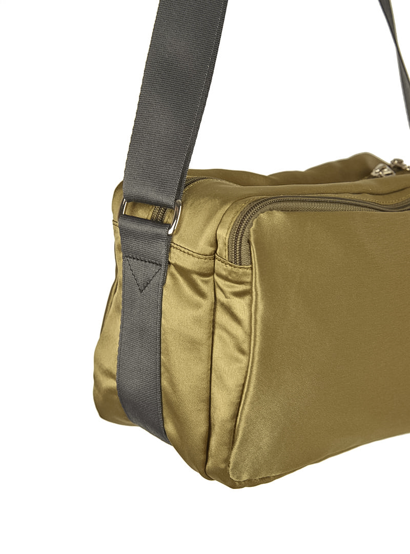 Satin Cross Back Bag Khaki