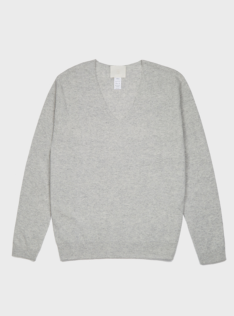 Cashmere V-neck Knit (6Colors)